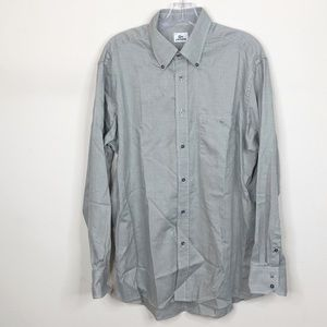 Lacoste Cotton Button Down Dress Shirt Size XL 44